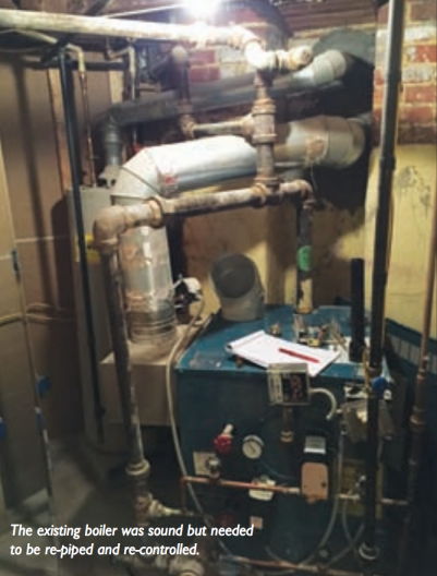 Steam heating system renovation