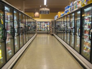 frozen food aisle radiant heating