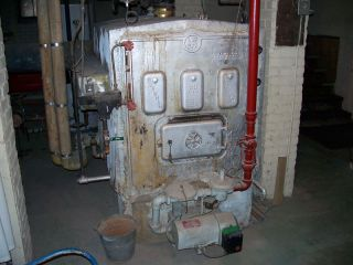 old steam boiler