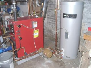 How to run a hot-water zone off a steam boiler