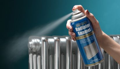 spray paint a radiator