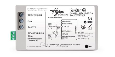 hyper engineering announces upgrade to surestart soft starter rh heatinghelp com Single Phase Contactor Wiring Diagram Single Phase Contactor Wiring Diagram