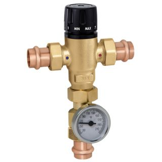 PR Caleffi 521 Thermostatic Mixing Valve with Press