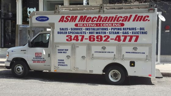 Our boiler installation truck