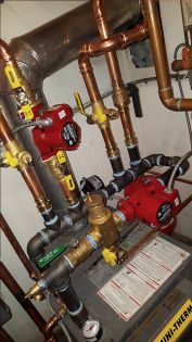Hot-water heating system installation